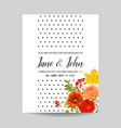 floral wedding invitation card template vector image vector image