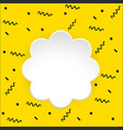 flower frame on yellow background vector image