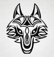 Fox Head Tribal vector image vector image