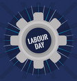 gear settings labour day vector image