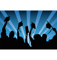 Graduation students background vector image vector image