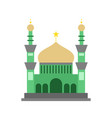 green style islamic mosque building design vector image vector image