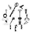 hairdressing simple icons set vector image vector image