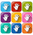 Hand icons vector image vector image