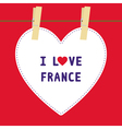 I lOVE FRANCE5 vector image