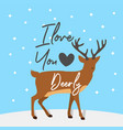 i love you deerly vector image