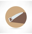 icon of hand saw vector image vector image
