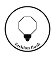 Icon of portable fashion flash vector image vector image