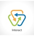 interact vector image vector image