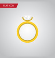 isolated ring flat icon engagement element vector image vector image