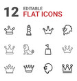 king icons vector image vector image
