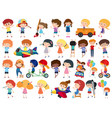 large set isolated objects many characters vector image vector image