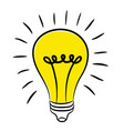 lightbulb - creative sketch draw vector image