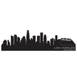 Los angeles california skyline detailed silhouette