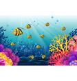 Lots of fish under the sea vector image vector image