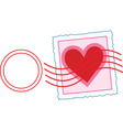 love letter stamp vector image vector image