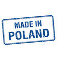 made in poland blue square isolated stamp vector image vector image