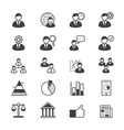Management Icons Line vector image vector image