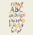 modern paper font and alphabet vector image vector image