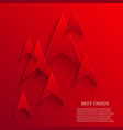 modern red arrows background Eps 10 vector image vector image