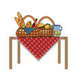 picnic baskets icon vector image vector image