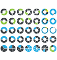 Pie charts and circular graph infographic kit vector image vector image