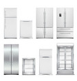 refrigeration cabinets realistic set vector image vector image