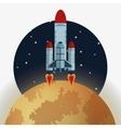 rocket design science concept cosmos icon vector image vector image
