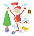 santa claus celebrates christmas vector image vector image