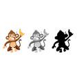 set angry monkey character vector image