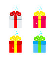 set of color gift box vector image