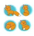 Set of cute little fox vector image