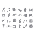 Set of entertainment gray icons vector image vector image