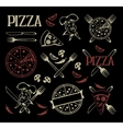 Set of pizza icons and design elements vector image vector image