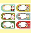 set of six holiday christmas gift tags vector image vector image