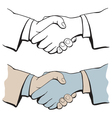 shake hands vector image