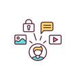 social media rgb color icon vector image