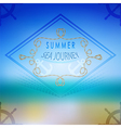 summer ocean blurred landscape interface vector image vector image