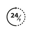 time of 24 icon online vector image