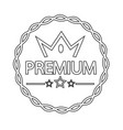 vintage premium label icon vector image