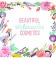 Watercolor cosmetics set vector image vector image
