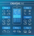 weather ui icons vector image vector image