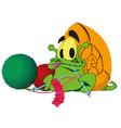 a green snail ute cartoon snail on white vector image