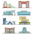 set of city modern buildings vector image