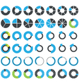 Round infographic elements and pie charts vector image