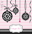 Christmas black balls on pink background vector | Price: 1 Credit (USD $1)