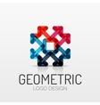 Abstract geometric shape company logo vector image