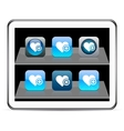 Add to vavorite blue app icons vector image vector image