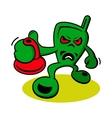 Aggressive creature logo vector image vector image