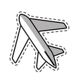 airplane travel business vacation shadow vector image vector image